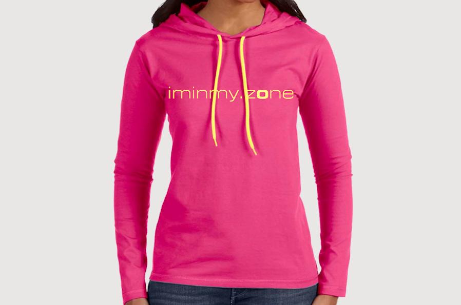 iminmy.zone ladies' hoodie