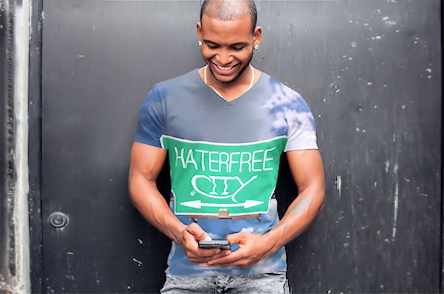 Haterfree.City Mens V-Neck