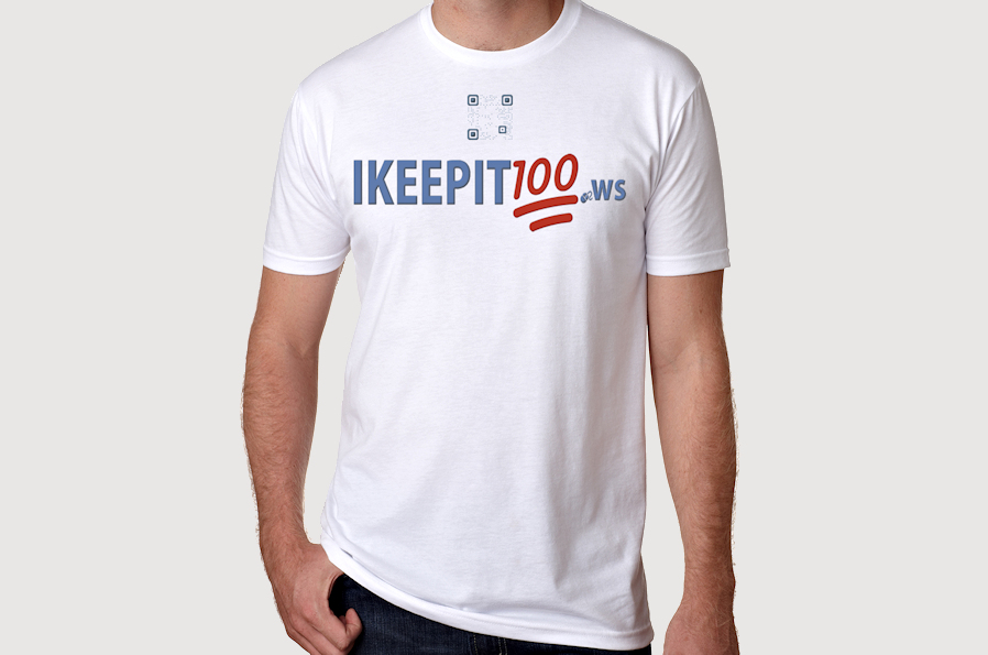 IKeepIt100 Emoji White Tee