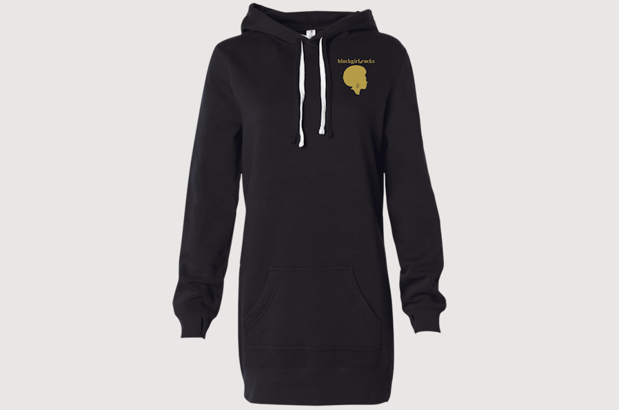 BlackGirl.Rocks Gold Logo Pullover Dress