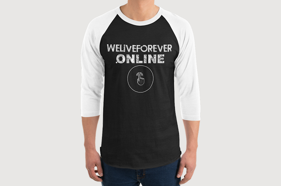WeLiveForever.Online Men's Raglan